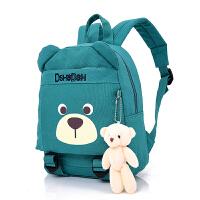 儿童小熊卡通书包小朋友大小号帆布环保双肩背包1-3-5岁幼儿园