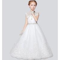 新款时尚女童儿童礼服 新年宴会结婚礼服齐地演出服
