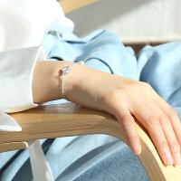 人工养殖珍珠手链闺蜜学生日韩甜美简约百搭刻字送女友手饰