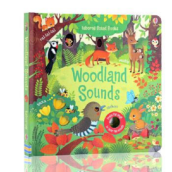 英文原版绘本Usborne Woodland Sounds森林的声音 奇妙触摸发声洞洞书 幼儿启蒙故事绘本 Usborne出版 奇妙触摸发声洞洞书
