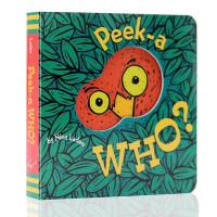 进口英文原版 Peek a Who?躲猫猫洞洞书Peek-A-Who?猜猜我是谁 早教纸板书绘本2-5岁