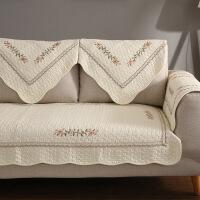 【人气】全棉布艺沙发垫现代简约全包通用冬季坐垫四季防滑沙发套靠背巾纯