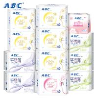 ABC棉柔清爽透气日夜用卫生巾组合12包 共98片