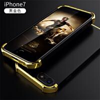 BaaN iPhone7手机壳苹果7保护套防摔全包边防指纹电镀三段硬壳 黑金色