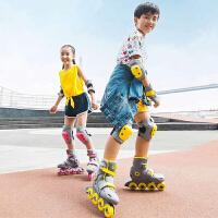 儿童男中大童女童轮滑鞋旱冰直排轮小孩初学者可调