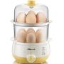 小熊(Bear)煮蛋器 双层定时家用多功能迷你蒸蛋器鸡蛋羹 ZDQ-A14R1