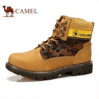 骆驼牌 男鞋 军靴情侣高帮工装靴户外运动休闲鞋耐磨马丁靴