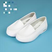 气垫护士鞋白色女夏季2019新款韩版镂空平底舒适坡跟防滑软底