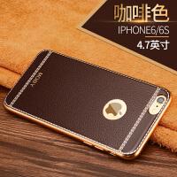 苹果6s镀金边框硅胶软壳iphone 6plus薄iphone6手机壳保护套
