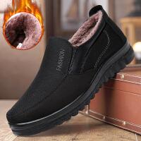 冬季老北京布鞋男棉鞋中老年爸爸棉鞋加绒加厚软底防滑老人保暖鞋