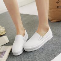 彼艾2018春季小白鞋女中跟平底休闲鞋学生鞋子板鞋运动女单鞋