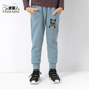 小虎宝儿童装男童加绒裤子加厚保暖五岁六岁加棉保暖2017新款韩版