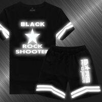 Q版黑岩射手COS动漫周边短袖T恤套装短裤学生大码男反夜光衣服