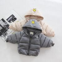 秋冬童装1-2-3岁男童笑脸棉衣婴幼宝宝红色棉袄
