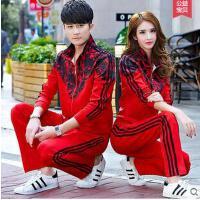 女卫衣跑步套装时尚韩范潮大码两件套休闲情侣运动套装男运动服