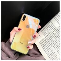 苹果x手机壳iphoneXs Max硅胶iphoneX新款7plus透明渐变色8plus 苹果6/6s 渐变 透绿色