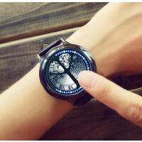 韩版手表 触屏智能男女款电子表 情侣表 个性创意夜光触控男表女生手表时尚潮流学生表LED电子表