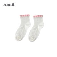 【200-100】安奈儿童装女童袜子秋季新款提花短袜JG807628