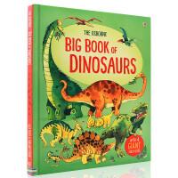 英文原版绘本 The Usborne Big Book of Dinosaurs 恐龙大书 精装大开儿童科普书 折叠内