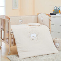 【当当自营】萌宝(Cutebaby)彩棉婴儿床围床品8件套 小猫 120*64cm
