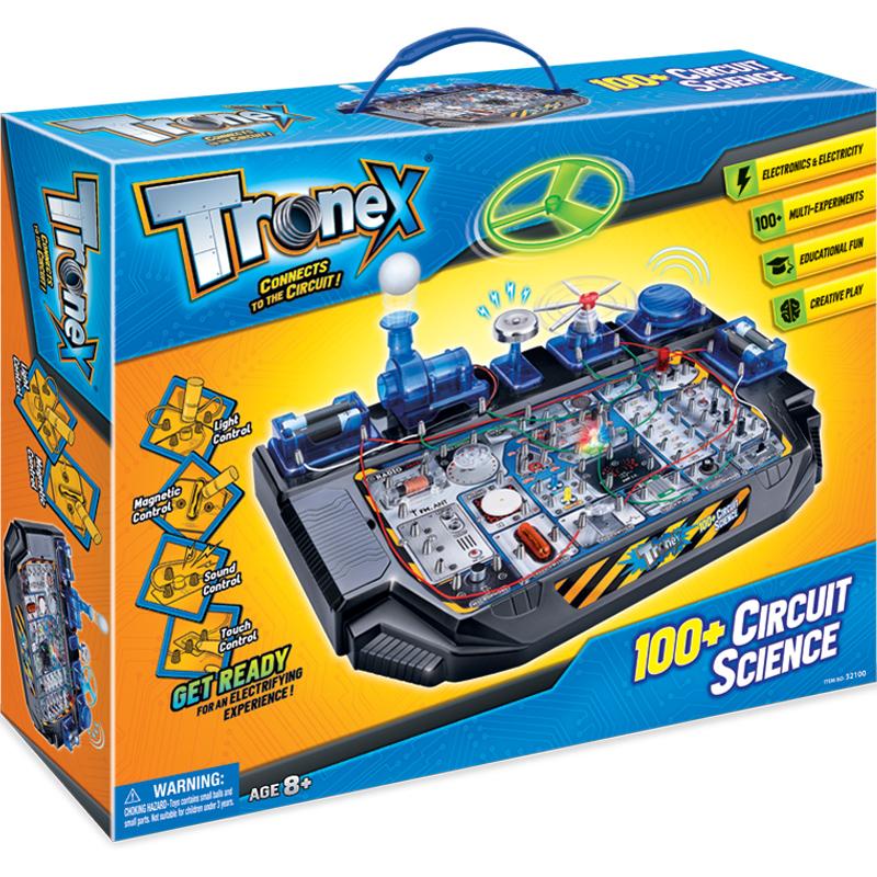 香港Tronex小学生stem科学实验整套科技小制作科普科教8-12岁儿童男孩电动电路diy益智玩具电科学100合1整套STEAM教育玩具,给孩子打开一扇科学之门