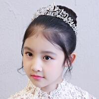 女童公主裙头饰花童婚礼婚纱小皇冠发饰儿童礼服水钻王冠配饰发箍