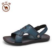 骆驼牌男鞋 夏季新品 休闲男士凉鞋皮鞋露趾透气户外沙滩鞋