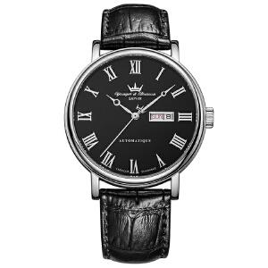 法国复古时尚腕表品牌:雍加毕索Yonger& Bresson-Beaumesnil 博梅尼勒堡系列 YBH 8372-01 B 机械男表