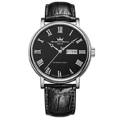 法国复古时尚腕表品牌:雍加毕索Yonger& Bresson-Beaumesnil 博梅尼勒堡系列 YBH 8372-01 B 机械男表下单后16:45前支付,1-3个工作日到达