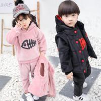 男童冬装套装儿童秋冬卫衣三件套中小童潮衣