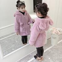2018新款韩版中大儿童装女孩厚中长款毛毛大衣潮女童外套秋冬装