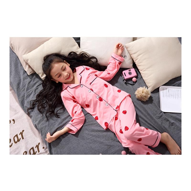 儿童睡衣女童春秋季长袖纯棉冬季可爱小孩家居服宝宝套装
