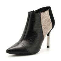 St&Sat/星期六冬季牛皮时尚尖头细高跟性感短靴女靴子SS64117669
