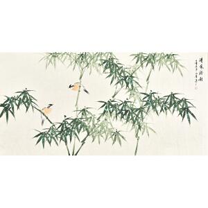 河南美术家协会会员许鲁四尺整张花鸟画gh04985