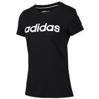 Adidas阿迪达斯 女装 运动休闲透气圆领短袖T恤 EI4724