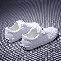 儿童小白板鞋男童亲子鞋母子女童运动鞋帆布鞋