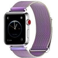代用苹果手表带男女超薄钢带apple iwatch123米兰尼斯金属表带 彩金色 42mm