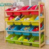 儿童玩具收纳架整理架置物架玩具收纳盒实木宝宝玩具架玩具收纳柜