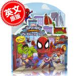 现货 英文原版 漫威英雄惊天追逐 儿童故事书纸板书Marvel Super Hero Adventures the A