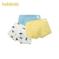 【1.20年�� 2件7折: 55.3】巴拉巴拉�和��妊�男童平角短�棉�|四角中大童小童�����H�w3�l�b
