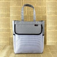大容量A4帆布手提电脑包事务包竖式男女公文包休闲文件袋定制印字 白色 8809