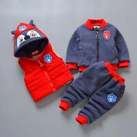 男童秋冬装三件套 婴幼儿宝宝保暖冬套装