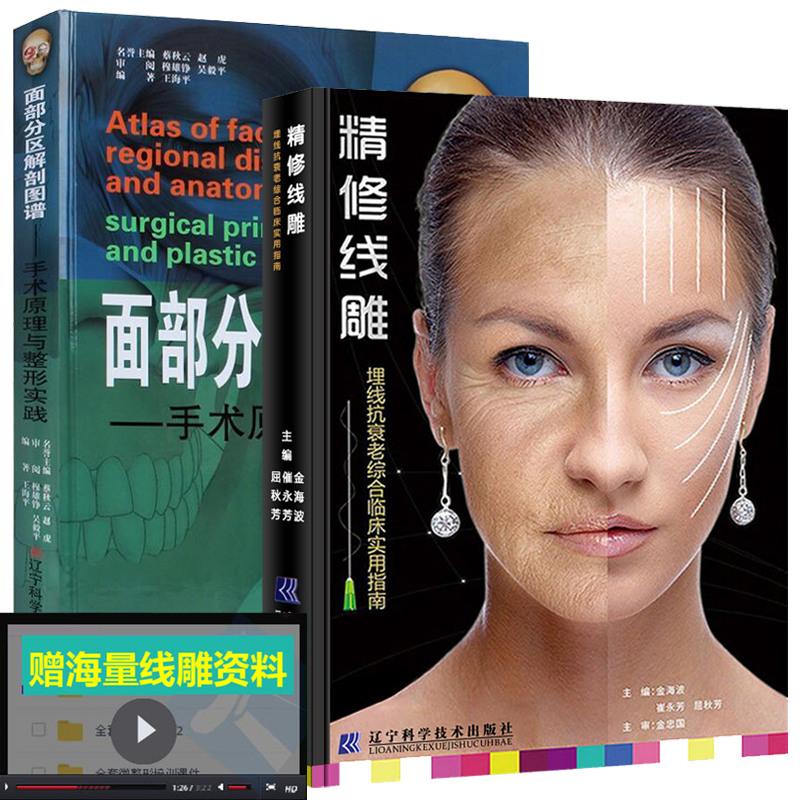 《精修线雕 面部分区解剖图谱手术原理与整形实践 微图片