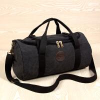 出行帆布旅行包大容量手提男士健身包单肩出差行李包休闲衣服包 中