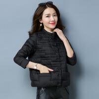 轻薄羽绒服女短款2018新款冬韩版时尚欧洲站女装小个子外套欧货潮 黑色 S