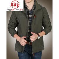 外套男秋季户外冲锋上衣夹克男装大码宽松休闲运动薄款青年男夹克