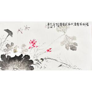 中国书画家协会会员 孔江林三尺整张花鸟画gh04481