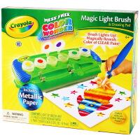 当当自营Crayola 绘儿乐 6色神彩魔法颜料画刷绘本套装 75-2063