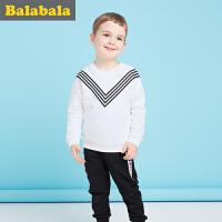 巴拉巴拉童装男童套装小童宝宝2017秋装新款儿童长袖裤子两件套