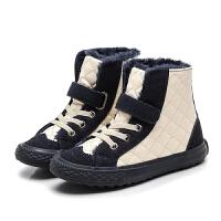 儿童棉鞋魔术贴女童鞋大童棉短鞋